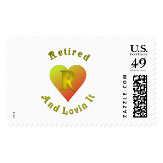 Retired Postage Stamp