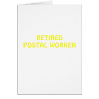 Retired Postal Worker Card