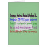 Retired Postal Worker--Funny T-Shirts and Gifts Card