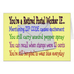 Retired Postal Worker--Funny T-Shirts and Gifts Cards