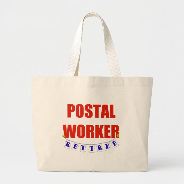 RETIRED POSTAL WORKER LARGE TOTE BAG