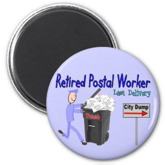 Retired Postal Worker Last Delivery 2 Inch Round Magnet