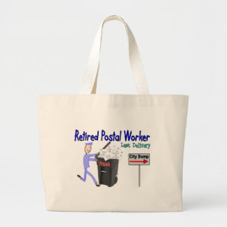 Retired Postal Worker Last Delivery Jumbo Tote Bag
