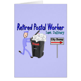 Retired Postal Worker Last Delivery Card