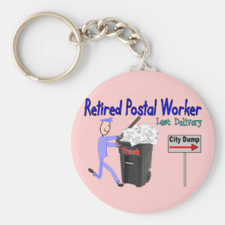 Retired Postal Worker Last Delivery Keychain