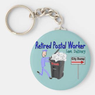 Retired Postal Worker Last Delivery Basic Round Button Keychain
