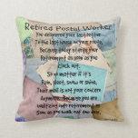 Retired Postal Worker Poem Pillow