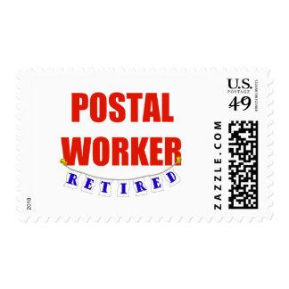 RETIRED POSTAL WORKER POSTAGE STAMP