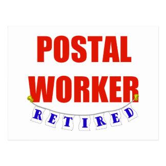 RETIRED POSTAL WORKER POSTCARD