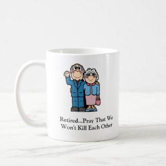Retired...Pray That W... Classic White Coffee Mug