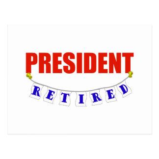 RETIRED PRESIDENT POSTCARD