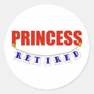 RETIRED PRINCESS CLASSIC ROUND STICKER