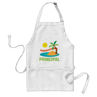 Retired Principal Beach Adult Apron