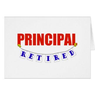 RETIRED PRINCIPAL GREETING CARD