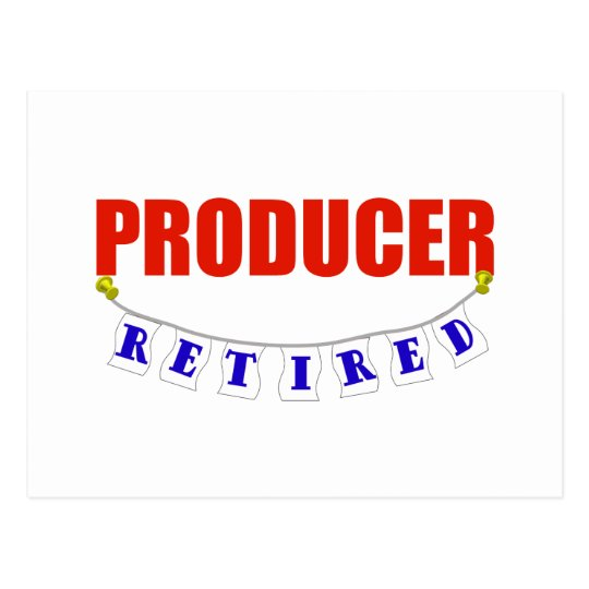 RETIRED PRODUCER POSTCARD