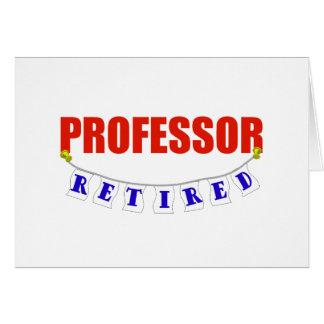 RETIRED PROFESSOR GREETING CARD