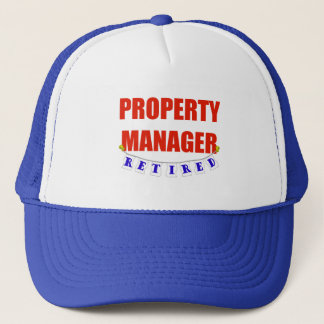 RETIRED PROPERTY MANAGER TRUCKER HAT