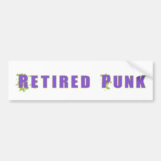 Retired Punk Bumper Sticker