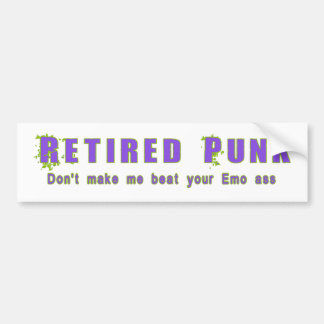 Retired Punk Bumper Sticker