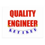 RETIRED QUALITY ENGINEER POST CARD