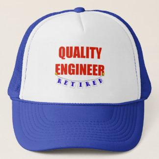 RETIRED QUALITY ENGINEER TRUCKER HAT