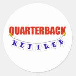 RETIRED QUARTERBACK STICKER