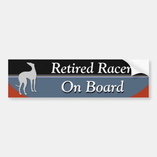 Retired Racer On Board Bumper Sticker