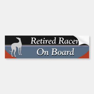 Retired Racer On Board Car Bumper Sticker