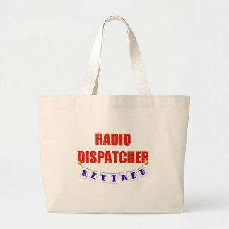 RETIRED RADIO DISPATCHER LARGE TOTE BAG