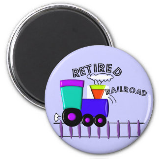 Retired Railroad Worker Gifts 2 Inch Round Magnet