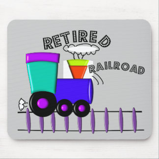 Retired Railroad Worker Gifts Mouse Pad