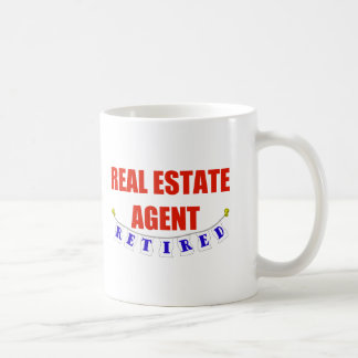 RETIRED REAL ESTATE AGENT CLASSIC WHITE COFFEE MUG