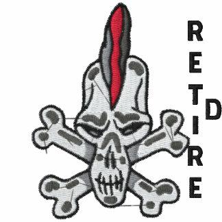 Retired Rebel Skull Embroidered Shirt