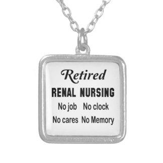 Retired Renal nursing No job No clock No cares Square Pendant Necklace