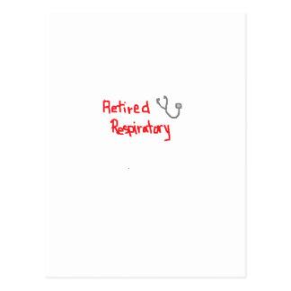 RETIRED RESPIRATORY THERAPIST POSTCARD