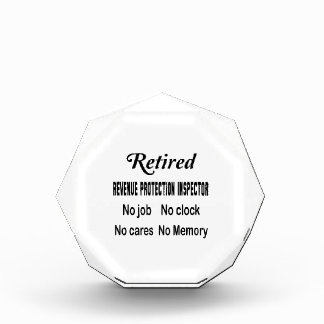 Retired Revenue Protection Inspector No job No clo Acrylic Award