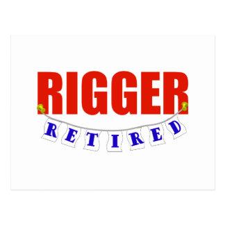 RETIRED RIGGER POSTCARD
