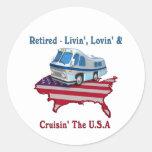 Retired Round Stickers