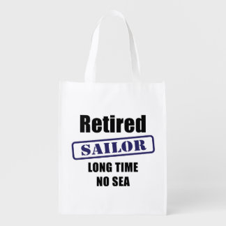 Retired Sailor Grocery Bag
