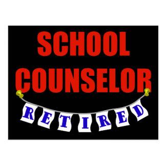 RETIRED SCHOOL COUNSELOR POSTCARD