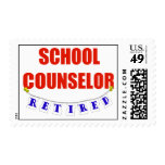 RETIRED SCHOOL COUNSELOR STAMP