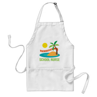 Retired School Nurse Beach Adult Apron
