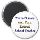 RETIRED SCHOOL TEACHER 2 INCH ROUND MAGNET