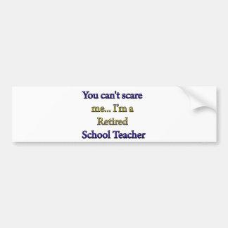 RETIRED SCHOOL TEACHER BUMPER STICKERS