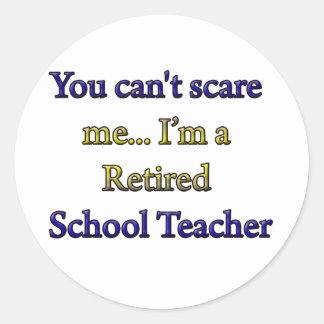 Retired School Teacher Classic Round Sticker