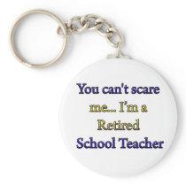 RETIRED SCHOOL TEACHER KEYCHAIN