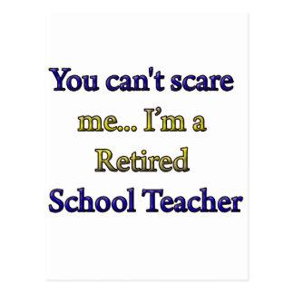 RETIRED SCHOOL TEACHER POST CARD