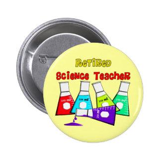 Retired Science Teacher Beeker Design Button