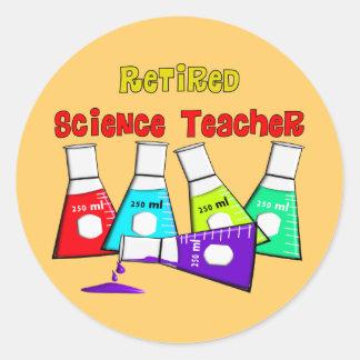 Retired Science Teacher Beeker Design Classic Round Sticker