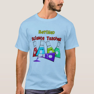 Retired Science Teacher Beeker Design T-Shirt